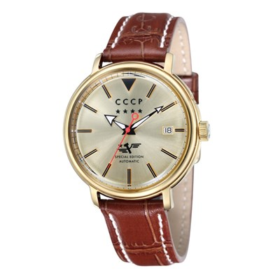 CCCP Gent's Heritage Slava Mechanical Automatic Watch with Genuine Leather Strap