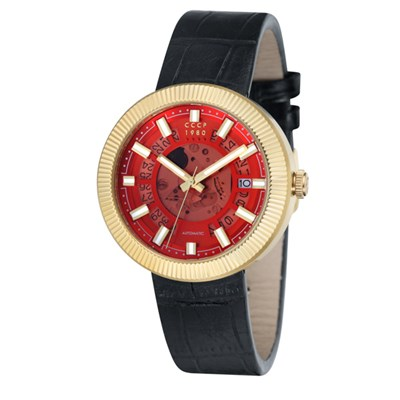 CCCP Gent's Monino Automatic Watch with Genuine Leather Strap
