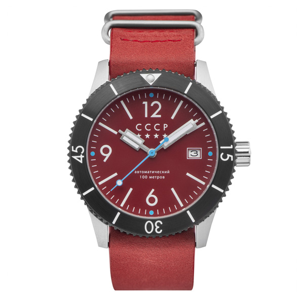 Image of CCCP Gent's Arkhipov Automatic Watch with Genuine Leather NATO Strap