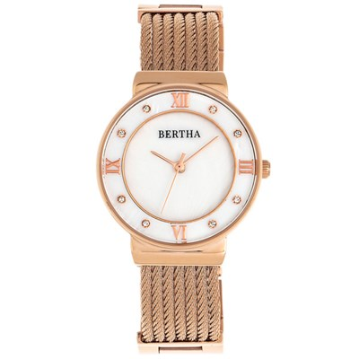 Bertha Ladies' Dawn Watch with Stainless Steel Bracelet
