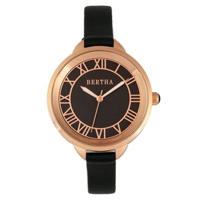 Bertha Ladies' Madison Watch with Genuine Leather Strap