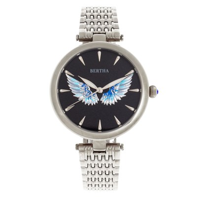 Bertha Ladies' Micah Watch with Stainless Steel Bracelet