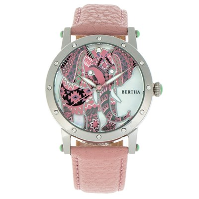 Bertha Ladies' Betsy Watch with Genuine Leather Strap