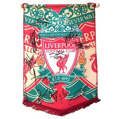 Liverpool FC Multi-Signed Team Pennant