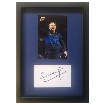 Frank Lampard Framed Photo & Personal Signature Display