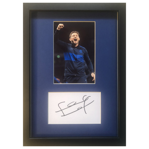 Frank Lampard Framed Photo & Personal Signature Display No Colour