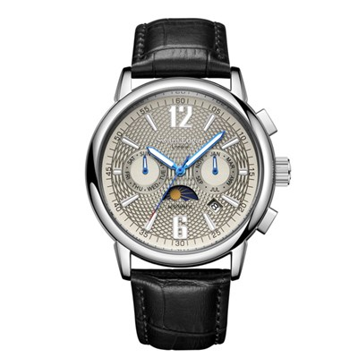 Swan & Edgar Gent's Limited Edition Hutton Contour Automatic Watch with Genuine Leather Strap