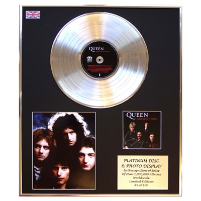 Queen Greatest Hits Framed & Mounted CD Platinum Disc Presentation Limited Edition of 100 Only