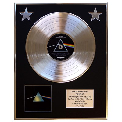 Pink Floyd Dark Side of the Moon Framed & Mounted CD Platinum Disc Limited Edition of 100 Only