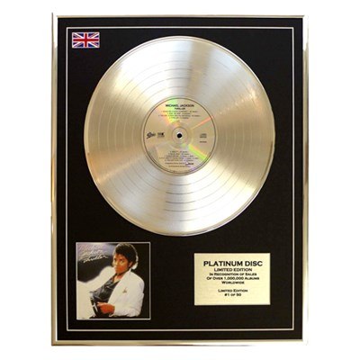 Michael Jackson Thriller Framed & Mounted CD on Platinum Disc Limited Edition of 50 Only