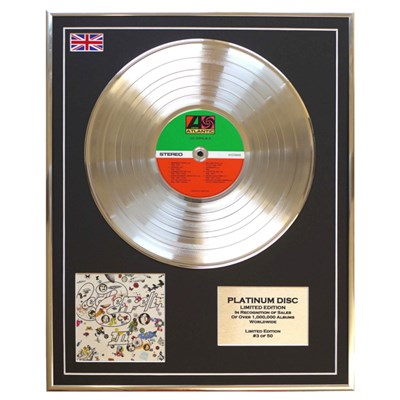 Led Zeppelin III Framed & Mounted CD Platinum Disc Limited Edition of 50 Only