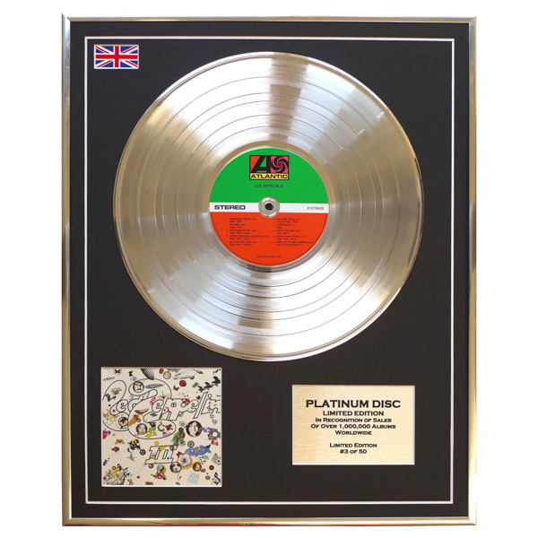 Led Zeppelin III Framed & Mounted CD Platinum Disc Limited Edition of 50 Only No Colour