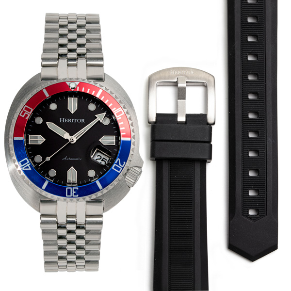 Heritor Gent's Automatic Matador Watch with Interchangeable Strap Blue/Red