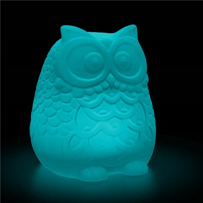 Shimmer Solar Mood Light Owl