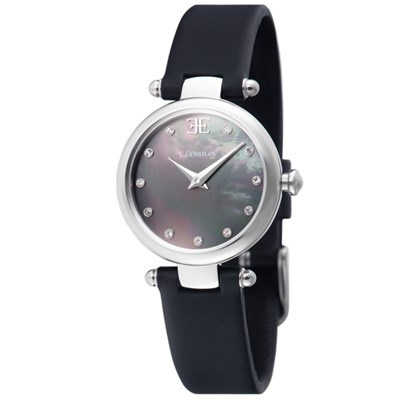 Thomas Earnshaw Ladies' Charlotte Watch with MOP Dial and Satin Strap