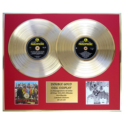 The Beatles Sgt Peppers & Revolver Framed Double CD on Gold Discs Limited Edition of 100 Only