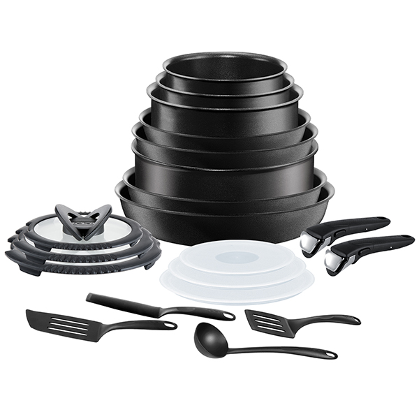 Tefal Ingenio Black 20pc Non-Stick Pan Set No Colour
