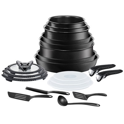 Tefal Ingenio Black 20pc Non-Stick Pan Set