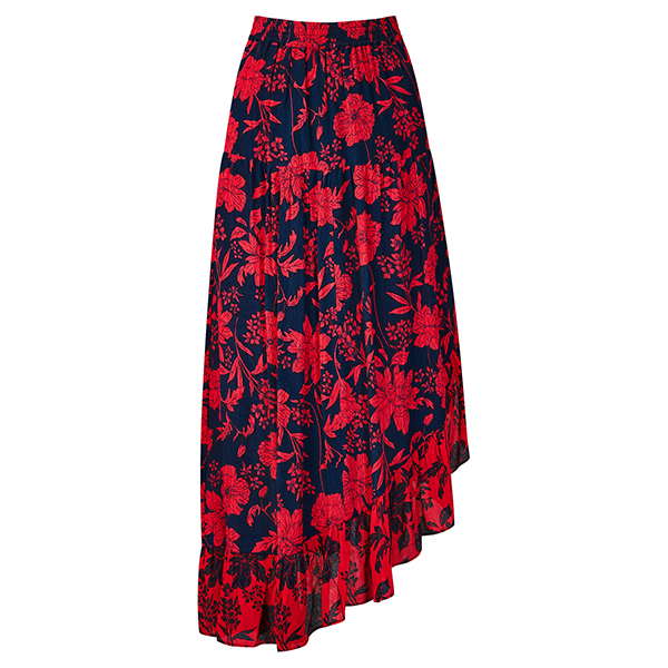 Joe Browns Beautiful Print Skirt Navy/Red