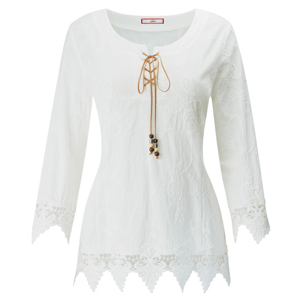 Joe Browns Lovers Lace Top White