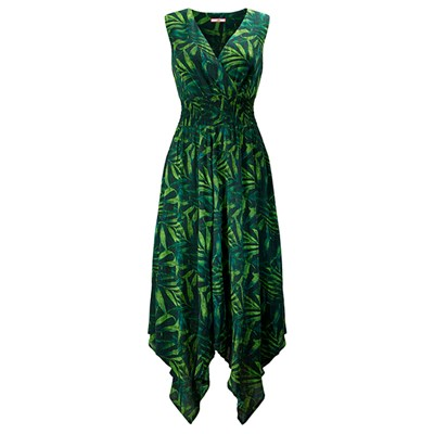 Wowing Palm Leaf Dress