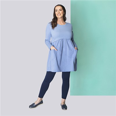 Sugar Crisp Pocket Tunic Dress