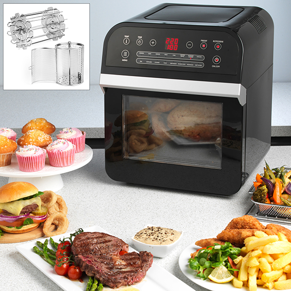 Salter XL Power Cook Airfrying Oven with Accessory Kit No Colour