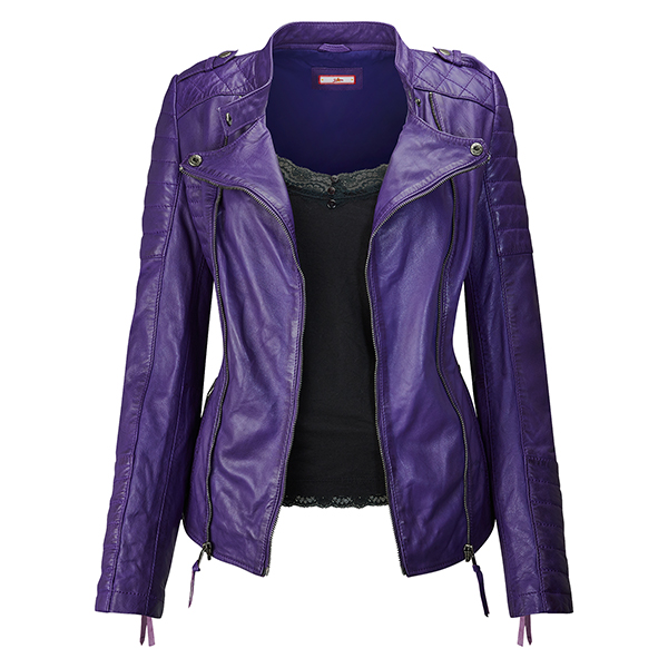 Joe Browns All New Leather Jacket Purple