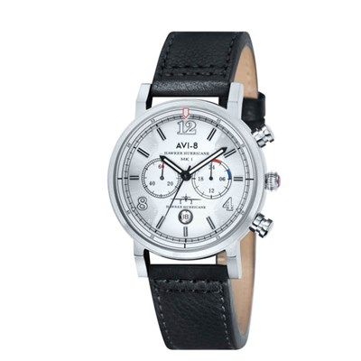 Avi-8 Gent's Hawker Hurricane Chronograph Watch with Genuine Leather Strap