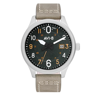 Avi-8 Gent's Hawker Hurricane Watch with Genuine Leather Strap