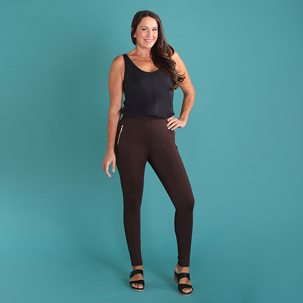 Emelia Pull On Ponte Jegging 29 Inch Chocolate