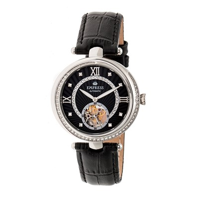 Empress Ladies' Stella Automatic Watch with Genuine Leather Strap