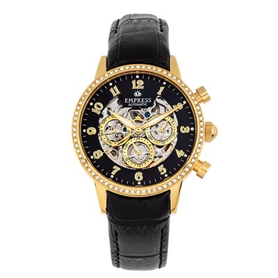 Empress Ladies' Beatrice Automatic Watch with Genuine Leather Strap