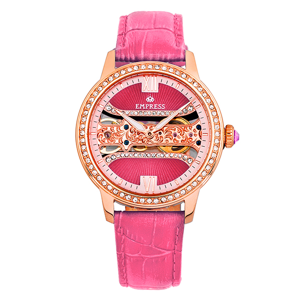 Empress Ladies' Rania Watch with Genuine Leather Strap Pink
