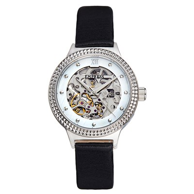 Empress Ladies' Alice Automatic Watch with Genuine Leather Strap