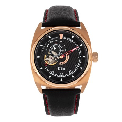 Reign Gent's Astro Automatic Watch with Genuine Leather Strap