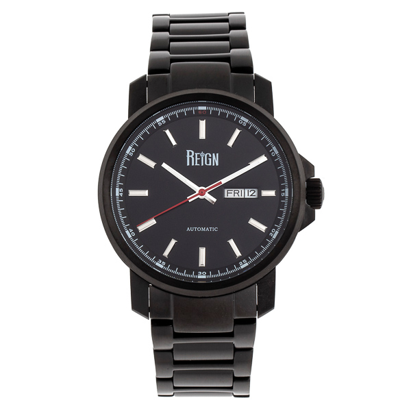 Reign Gent's Helios Automatic Watch with Stainless Steel Bracelet Black