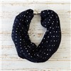 Pleated Foil Spot Magnetic Scarf
