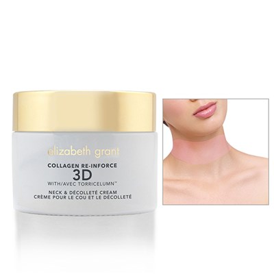 Elizabeth Grant Collagen Re-Inforce 3D Neck & Decollete Cream 100ml with Silicone Mask