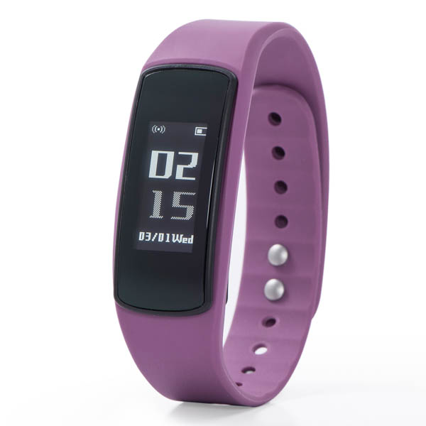 Nuband Flash HR Activity and Sleep Tracker Watch with Silicone Strap Purple