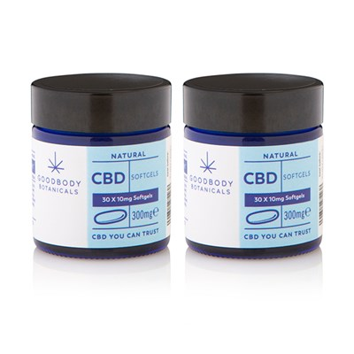 Goodbody Botanicals CBD Softgels Duo 60 x 10MG