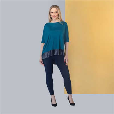 Join Satin Hem Trim Top