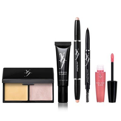 ybf 5pc BeYOUtiful Basics Collection (Primer, Duopan, Brow Pencil, High Brower Power,Lip)