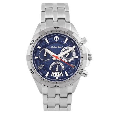 Mathey Tissot Gent's Bolton Swiss Quartz Chronograph Watch with Stainless Steel Bracelet