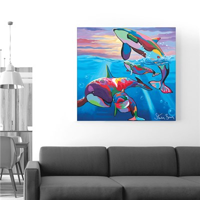Steven Brown Save the Ocean Families Large Canvas 76x76cm