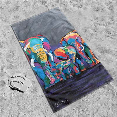Steven Brown Allan & Jackie McZoo 80 x 160cm Beach Towel