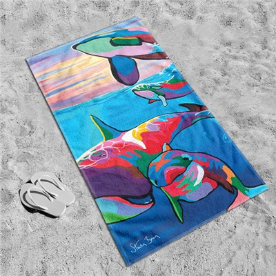 Steven Brown Save The Ocean Families 80 x 160cm Beach Towel