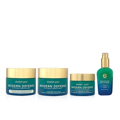 Elizabeth Grant Modern Defense 4pc Collection (Day cream, Night treatment, Serum, Peat Mask)