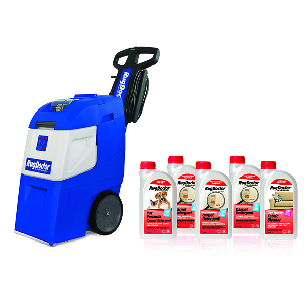 Rug Doctor X3 Professional Carpet Cleaner with 1L Carpet Detergent (3 Pack), 1L Fabric and 1L Pet Detergent No Colour