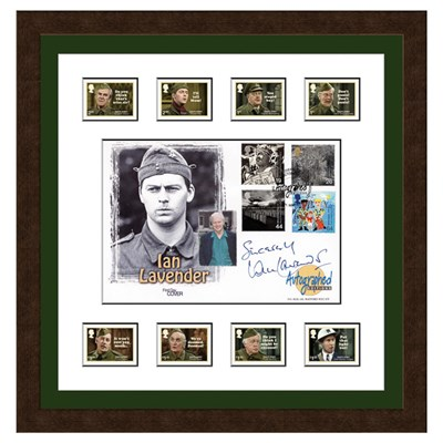 Dads Army Framed Celebration Cover Personally Signed by Ian Lavender